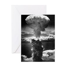 Atomic burst over Nagasaki, 1945 Greeting Card