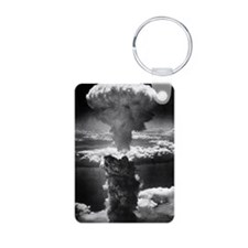 Atomic burst over Nagasaki Keychains