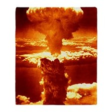 Atomic burst over Nagasaki, 1945 Throw Blanket