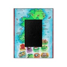 Illustrated Map of Ireland Picture Frame