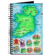 Illustrated Map of Ireland Journal
