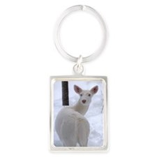 The Lady in White Portrait Keychain