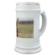 Western Meadowlark on Metal Post Stein