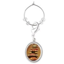 Conveyor belt sushi Oval Wine Charm