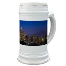 Image of Seattle Skyline in morning hours. Stein