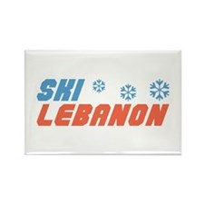 Ski Lebanon Rectangle Magnet (100 pack)