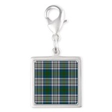 Kennedy Dress Tartan Plaid Silver Square Charm