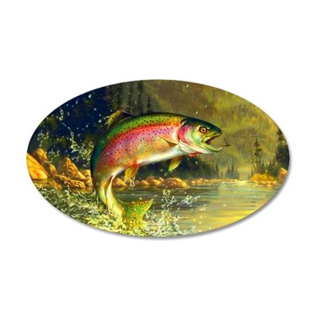 Trout 8x4 35x21 Oval Wall Decal
