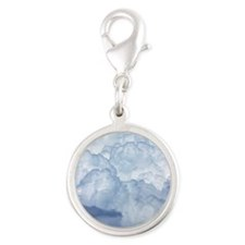 Cloud Silver Round Charm