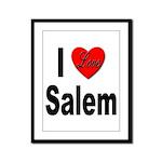 I Love Salem Framed Panel Print