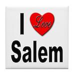 I Love Salem Tile Coaster