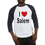 I Love Salem (Front) Baseball Jersey