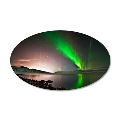 Kleifarvatn lake and great a 35x21 Oval Wall Decal