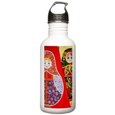 Painting of Russian Ma Sports Water Bottle