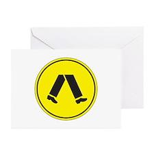 Pedestrian Crossing, Australia Greeting Cards (Pac