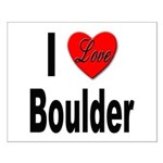 I Love Boulder Small Poster