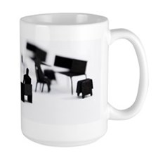 2 men negotiating at office Mug