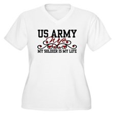 Army Wife - My soldier is my  T-Shirt
