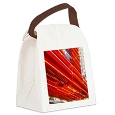 Neon Lights Downtown Las Vegas Canvas Lunch Bag