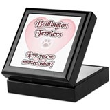 Bedlington Love U Keepsake Box
