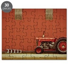Tractor and Ladder beside Barn Puzzle