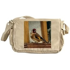Greedy goldfinch Messenger Bag