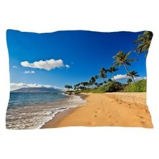 Beach in Wailea, Maui Pillow Case