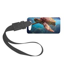 Snorkeling with Hawaiian Sea Tur Luggage Tag