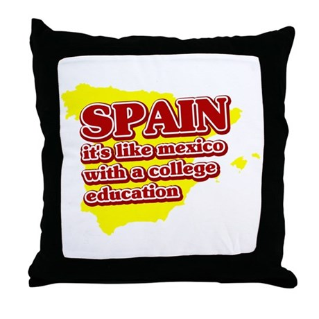Spain Like Mexico Throw Pillow