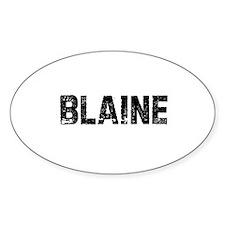 Blaine Oval Decal
