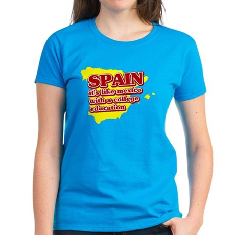 Spain Like Mexico Women's Dark T-Shirt