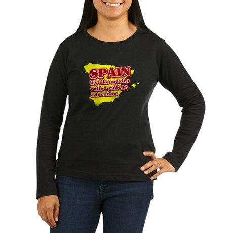 Spain Like Mexico Women's Long Sleeve Dark T-Shirt