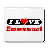 I Love Emmanuel Mousepad
