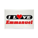 I Love Emmanuel Rectangle Magnet