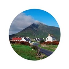 "oogort Village And Slievemore Mountain 3.5"" Button"