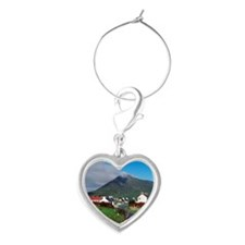 oogort Village And Slievemore Mou Heart Wine Charm