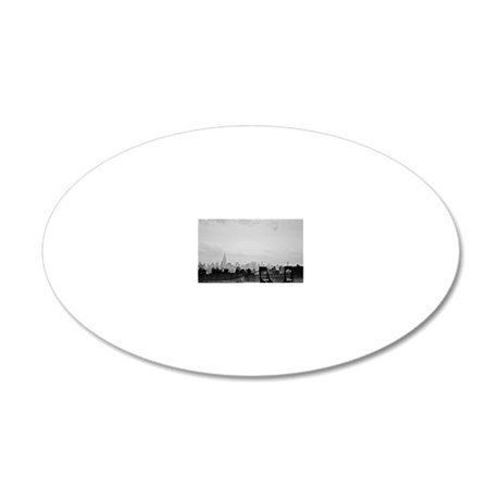 New York City skyline 20x12 Oval Wall Decal