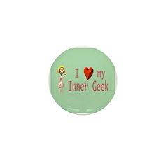 Inner Geek Girl Mini Button (10 pack)