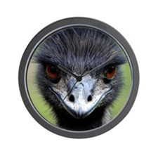 Emu stare Wall Clock