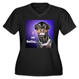 Doberman Pinscher Smiles Women's Plus Size V-Neck