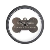 Schnauzer Friend Wall Clock