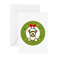 Soft Coated Wheaten Terrier Christmas Greeting Car