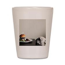 Hamburger and dog Shot Glass
