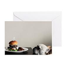 Hamburger and dog Greeting Card