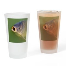 Hungry fish Drinking Glass