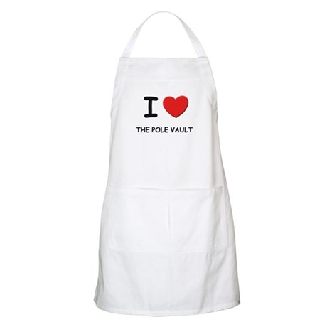 I love the pole vault BBQ Apron