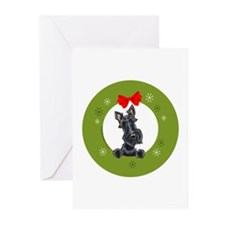 Black Scottie Christmas Greeting Cards (Pk of 20)