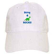 Being 4 Rocks! Dinosaur Baseball Cap