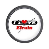 I Love Efrain Wall Clock