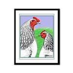 Columbian Cock and Hen Framed Panel Print